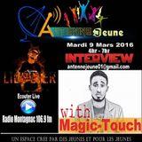 Interview de Lil Peter avec MagickTouch à l'émission #AntenneJeune (Mer 8 mars 2016)