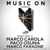 Marco Faraone - Live @ Music On London, Electric Brixton (London, UK) - 07.04.2017