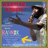 Asante Amen..Interview...Reggaeoverdrive Radio.