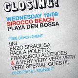 tINI & the Gang Closing - Enzo Siragusa Live @ Sirocco Beach, Ibiza - 19.09.12