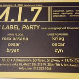 DJ Rexx Arkana - MI7 - January 14, 2000 - Side B