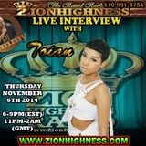 TOIAN LIVE INTERVIEW WITH DJ JAMMY ON ZIONHIGHNESS RADIO 110614