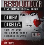 Resolution: New Goth/Industrial Music (Dec. 10, 2016 at Cattivo in Pittsburgh, PA)