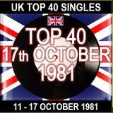 UK TOP 40 11-17 OCTOBER 1981