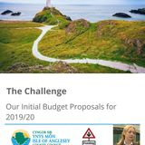 Tony Jones with Anglesey County Council's Leader - Cllr. Llinos Medi on the 2019 Budget proposals.