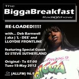 BIGGA BREAKFAST RADIO SHOW 15/05/2012