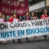 Movilización de docentes tras conflicto de paritarias|Graciela Nuño (AMSAFE Rosario)|04/04/2018