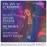 DJ Mr Brown - Opening Set For Dennis Ferrer At Basement 1.16.15 - Disco Mix - All Vinyl