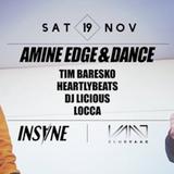 2016.11.19 - Amine Edge & DANCE b2b Tim Baresko @ Club Vaag, Antwerp, BE