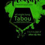 Tabou  all night long Nov 2017
