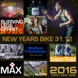 New Years bike hour (31/12 2015) 75 participants and 7 instructors on stage the last 20 minutes.