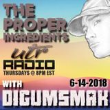 THE PROPER INGREDIENTS ON UTR RADIO BY DIGUMSMAK .. 6-24-2018