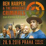 Ben Harper & The Innocent Criminals. Live Prague, Forum Karlín, Sept. 28th, 2016