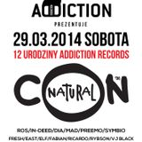 MC CONRAD (Con*Natural) ft. ROS addiction - live@Addiction Rec.12 birthday - 29.03.14. Sfinks700. PL