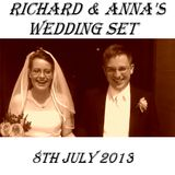 Wedding set for Richard and Anna's big day on the 8th July 2013.