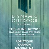 KARMON - LIVE at DIYNAMIC OUTDOORS OPENING 2015 - BEACHHOUSE IBIZA