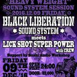 BLACK LIBERATION SOUND SYSTEM at Shimokitazawa ERA 2016.12.9