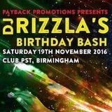 DJ  HYBRID & RAGGA TWINS - RIZZLAS BDAY BASH - CLUB PST- BIRMINGHAM - 19/11/16