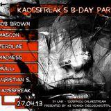 BoB Brown @ 130bpm.eu OnlineStream, Kaossfreaks B-Day & 3 Jahre Discoschrottplatz Pt.II (27.04.2013)