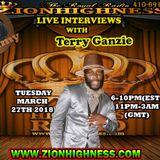 TERRY GANZIE LIVE INTERVIEW WITH DJ JAMMY ON ZIONHIGHNESS RADIO 032718