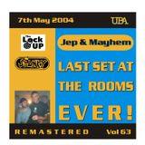 JEOPARDY & MAYHEM - LAST NIGHT AT THE ROOMS - LOCK UP MAY 2004