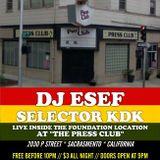 "DJ ESEF, SELECTOR KDK & RAS MATTHEW  LIVE @ PRESS CLUB DEC. 2013 W/ SPECIAL GUEST MC ""L-SKI"""