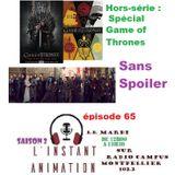 L'Instant Animation épisode 65 : Hors-série : Spécial Game of Thrones 1/2 Sans Spoiler