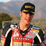 Luca Scassa in partenza per la Superbike Evo