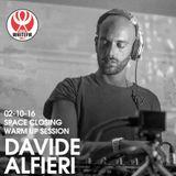 Warm up Space Ibiza Closing - Davide Alfieri Session 02-10-2016