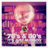 70's & 80's it's just nudisco - Nu-disco mix by JJ Mat - August 3 2013