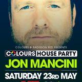 JON MANCINI - COLOURS HOUSE PARTY - LIVE at Radisson Red, Glasgow