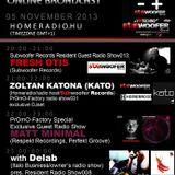 20131105 21-22h(GMT+1) Zoltán Katona (KATO) (Homeradio/radio host/Subwoofer Records) Live@HOMERADIO