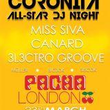 Miss Siva & Canard & 3l3ktro Groove - Live @ Pacha London Coronita All-Star Dj Party 2013.03.23.