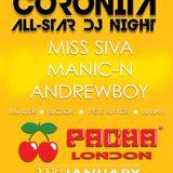 Andrewboy & Manic N - Live @ Pacha London Coronita All-Star Dj Party 2013.01.11.
