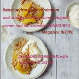 CRUMBLE HEAVEN! Baked apricots with cardamom & orange blossom honey  SAINSBURYS MAG gorgeous recipe