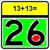 13+13=26