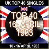UK TOP 40 10-16 APRIL 1983