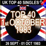 UK TOP 40 25 SEPTEMBER - 01 OCTOBER 1983