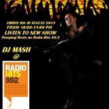 DJ Mash Live @ Pumping Beats on Radio Hits 88.2 (09-08-2013)