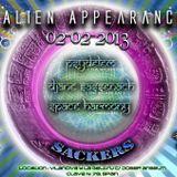 Sackers Alien Appearance Session 3/02/2013  Dj Psydelem Part. 1/4