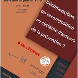 Réseau Jeunes Chercheurs Travail & Santé-Journée d'étude 20.01/16-Intervention d'Hervé SAGEOT CRAMIF