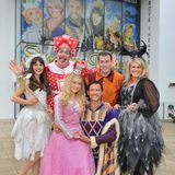 Sticks show with the cast of Sleeping Beauty, Dunstable