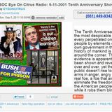 EOC Eye On Citrus Radio Broadcast Special Edition Pre 9-11-2001 Anniversary show