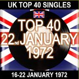 UK TOP 40 16-22 JANUARY 1972