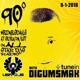 90 DEGREES ON ALL STAR DJS RADIO .. BY DIGUMSMAK .. 8-1-2018