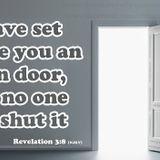 2019-11-07【清晨 QT 敬拜祷告时刻】遵守神的话语神必开启敞开的门〔启示录EP07〕