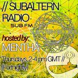 Mentha - Subaltern Radio 02/04/2015 on SUB.FM