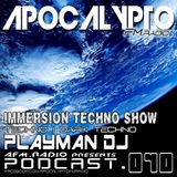 AFM.RADIO | IMMERSION TECHNO RADIO SHOW PODCAST #010 WITH PLAYMAN DJ [FACEBOOK.COM/DJPLAYMAN]
