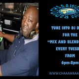 Come and join me TONIGHT!!! DJ Dapps for My 'Mix and Blend' Show from 6pm till 8pm, 10/10/17.