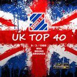 UK TOP 40 - Radio 1 - Bruno Brookes - 9-3-1986